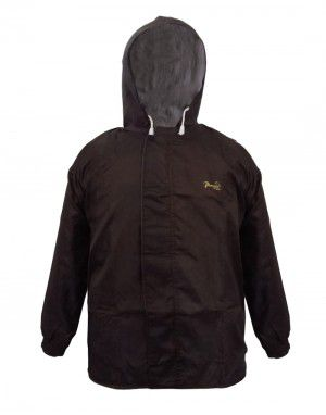 mens challenger raincoat set with carry bag brown