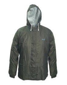 challenger mens raincoat set with carry bag olive