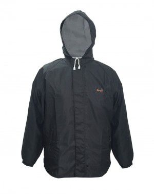 oxford raincoat set mens with carry bag grey