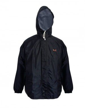 oxford raincoat set for mens with carry bag navy