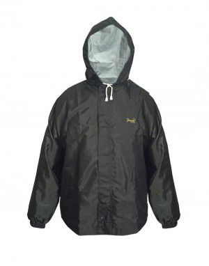 Oxford Raincoat Set for mens waterproof with carry bag olive
