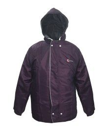 reliance mens raincoat set with carry bag purple