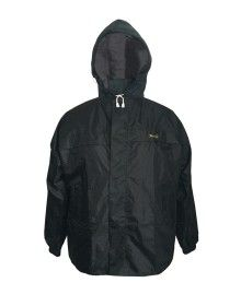 mens stellar raincoat set with carry bag black