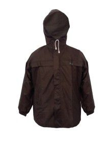 stellar mens raincoat set with carry bag brown