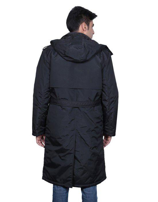 Mens Trench Over Coat Full sleeves Black
