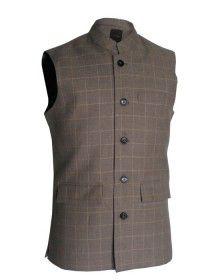Men Coat Wool Faun Check