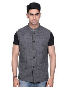 Men SL Wool Coat Grey check
