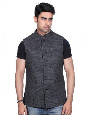 Men SL Wool Coat Fine check