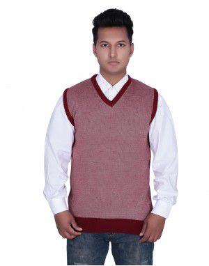 Mens SL Acrylic Sweater Red