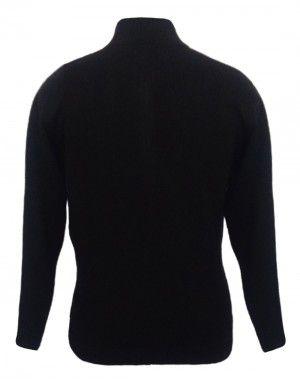 Men Sweater Design With Front Short Zip Navy