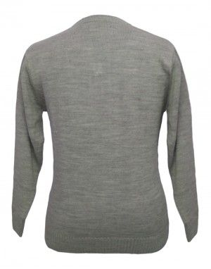 Men sweater v neck Self Design