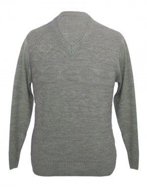 Men sweater v neck Self Design