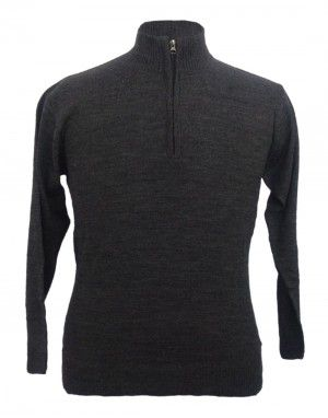 Men sweater T Neck Plain