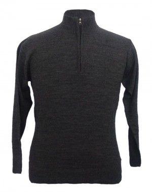 Men sweater T Neck Plain