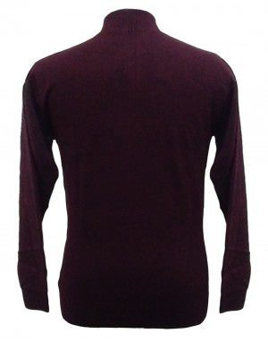 Men sweater T Neck Plain Maroon