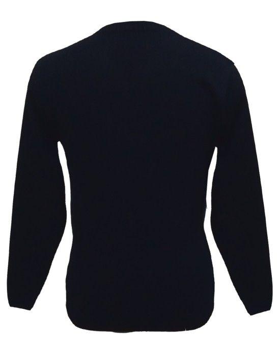 Men sweater T Neck Plain Black