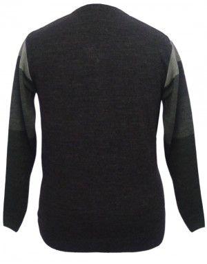 Men Sweater Broad Stripes Design