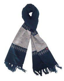 Acrylic Wool Warm Designer Muffler Navy