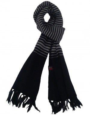 Acrylic wool Muffler designer Black
