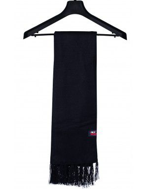 Acrylic wool Muffler Plain Black