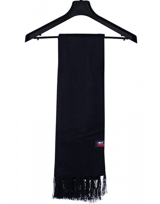Acrylic wool Muffler Plain Black