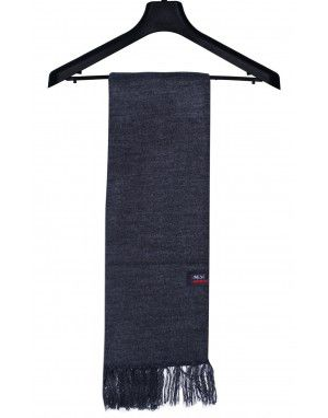 Acrylic Wool Muffler Plain Dark Grey