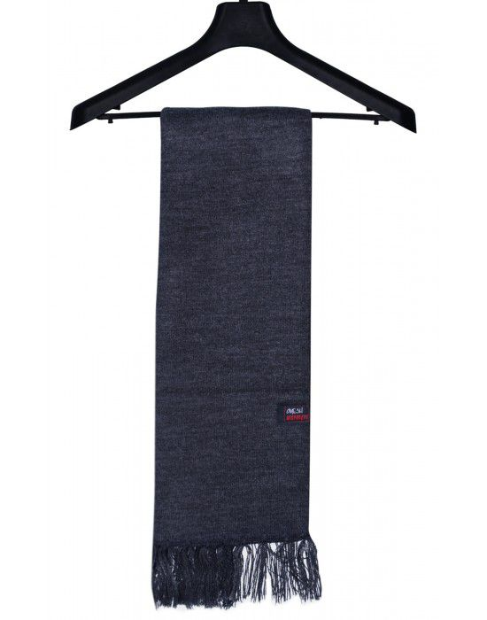 Acrylic Wool Muffler Plain Dark Grey