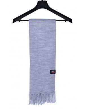 Acrylic Wool Muffler Plain Grey