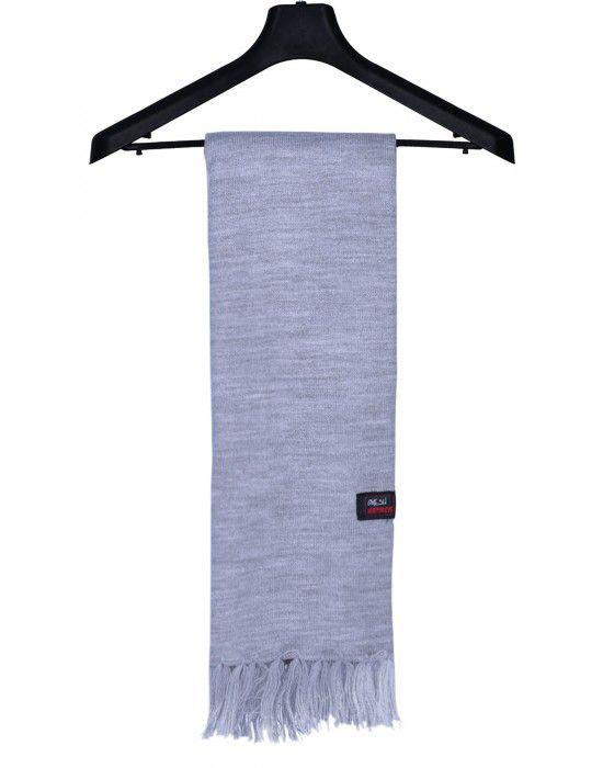 Acrylic Wool Muffler Plain Grey