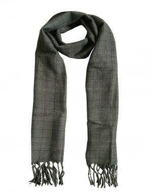Purewool Muffler Grey Check