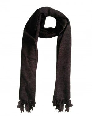 WoolBlend Plain Muffler Brown