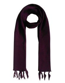 WoolBlend Plain Muffler Purple