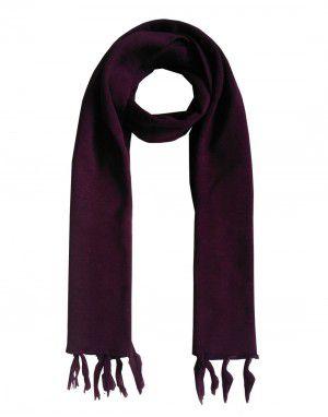 WoolBlend Plain Muffler Purple