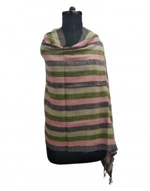 multi stripes wool blend broad stripes stole