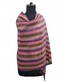 multi stripes wool blend stole broad stripes