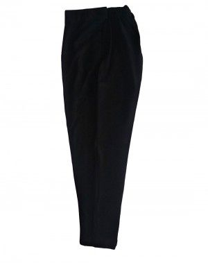 Womens woollen pants plain design  black color