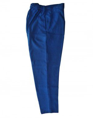 Womens woollen pants plain design navy blue color