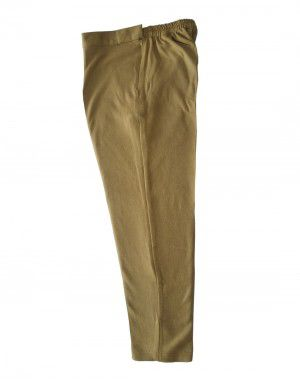 Womens woollen pants plain design brown color