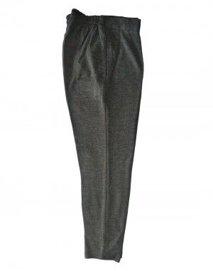 Womens woollen pants plain design grey color