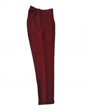 Womens woollen pants plain design maroon color
