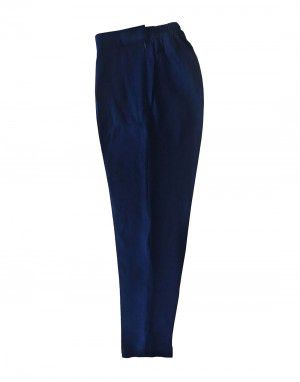 Womens woollen pants plain design navy color