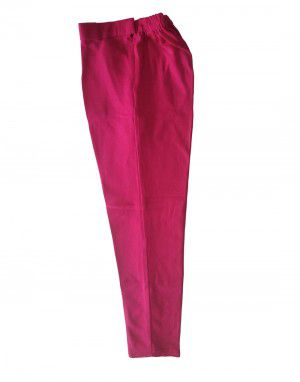 Womens woollen pants plain design pink  color
