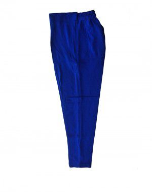 Womens woollen pants plain design royal blue color