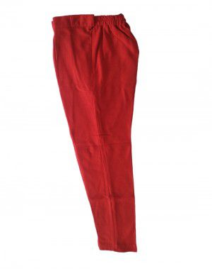 Womens woollen pant plain design red color