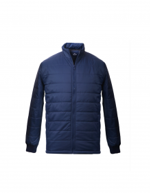 Mens Jacket Navy Quilted Plain