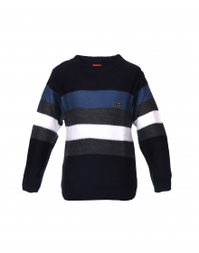 Boys Sweater Navy Stripe Print Designer