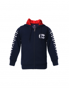 Boys Sweatshirt Navy Sleeves Printed