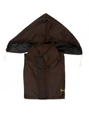 mens oxford raincoat set  with carry bag brown