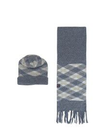 Muffler cap set square designed dark grey