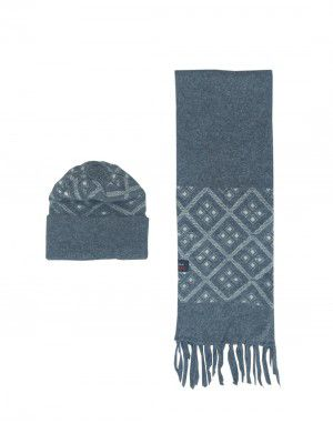 Muffler cap set dark grey design square
